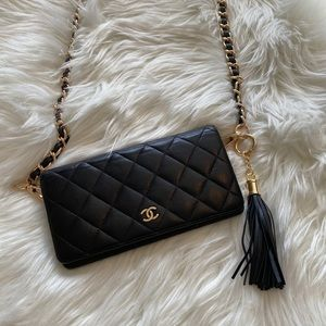 Authentic!! Chanel Matelasse Wallet on a Chain